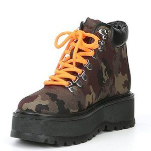 Steve Madden Stomp Camo Hiking Boots Platform Lace